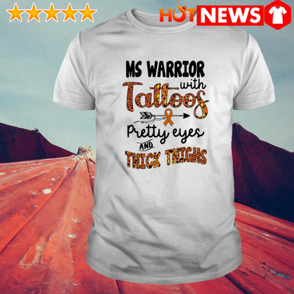 Ms Warrior with tattoos pretty eyes and thick thighs leopard shirt