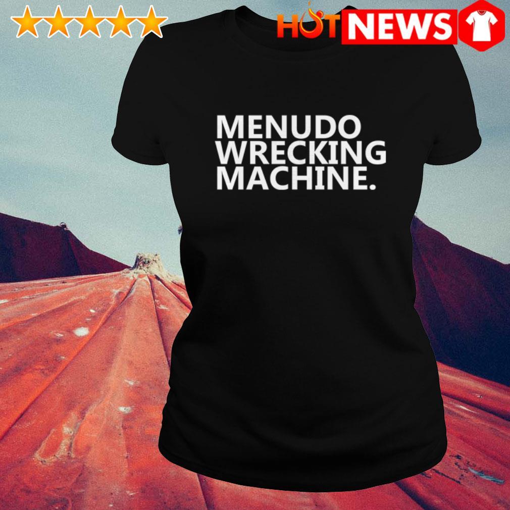 Official Menudo Wrecking Machine Ladies Tee