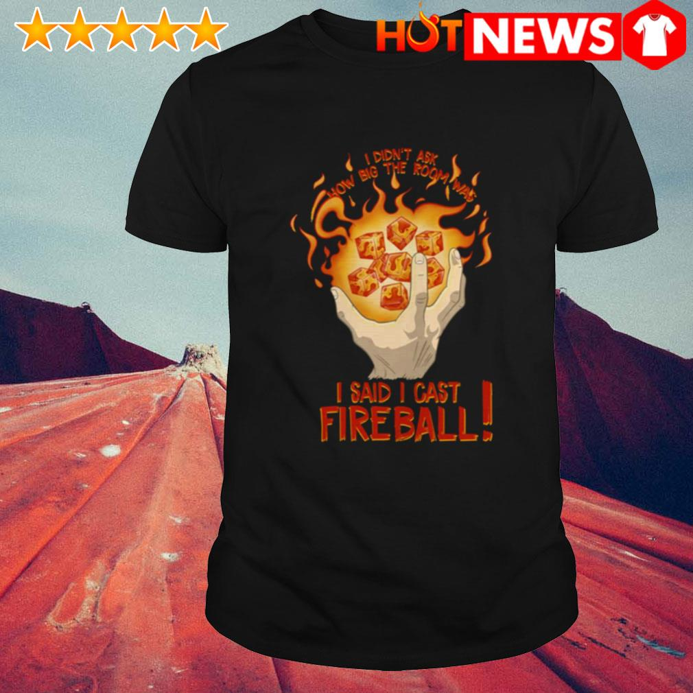 I said I cast fireball I didn't ask how big the room was shirt