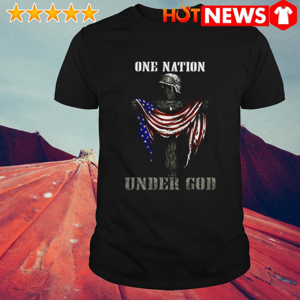 Sodier USA Flag one nation under God shirt