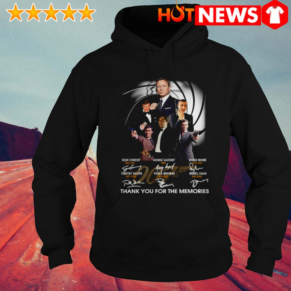 Thank you for the memories James Bond 007 characters signatures Hoodie