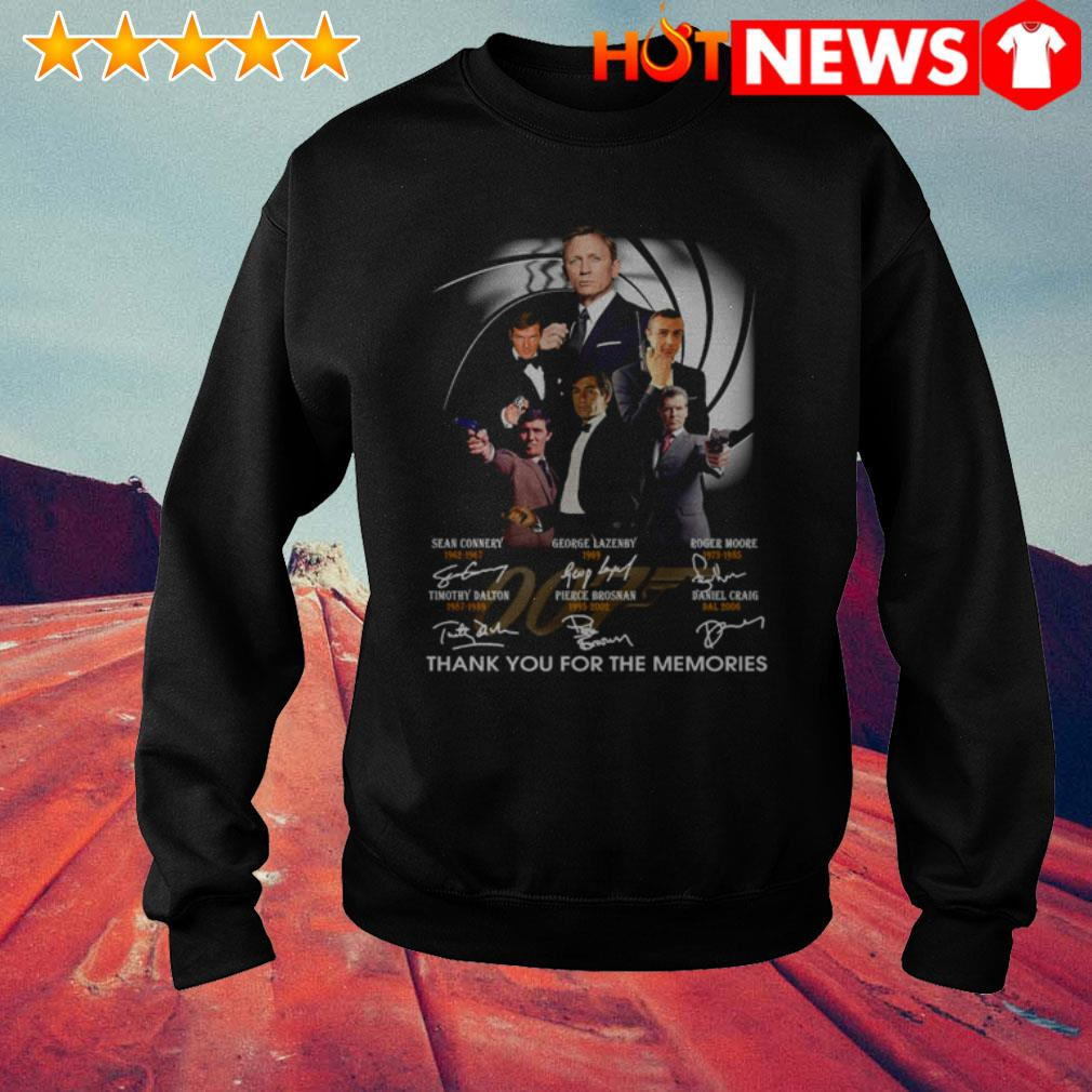 Thank you for the memories James Bond 007 characters signatures Sweater
