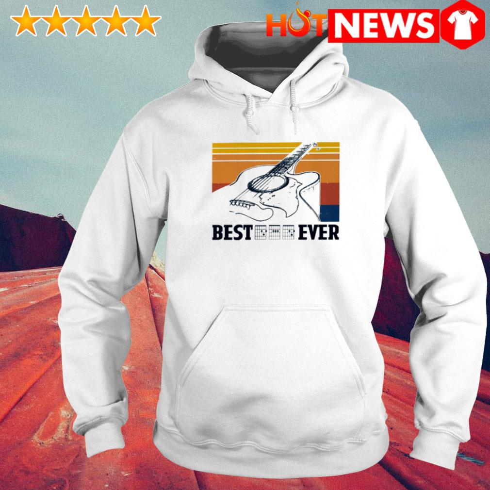 Vintage Guitar chord best dad ever Father's day Hoodie