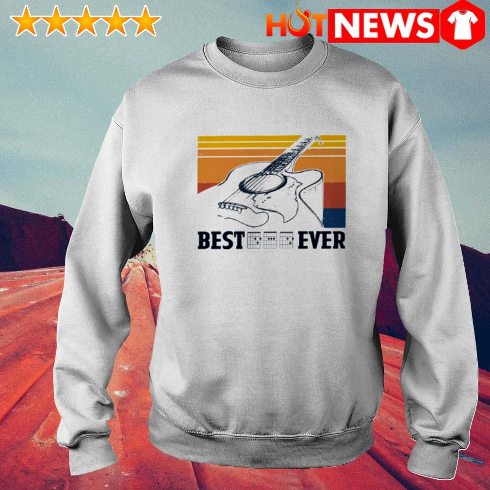 Vintage Guitar chord best dad ever Father's day Sweater