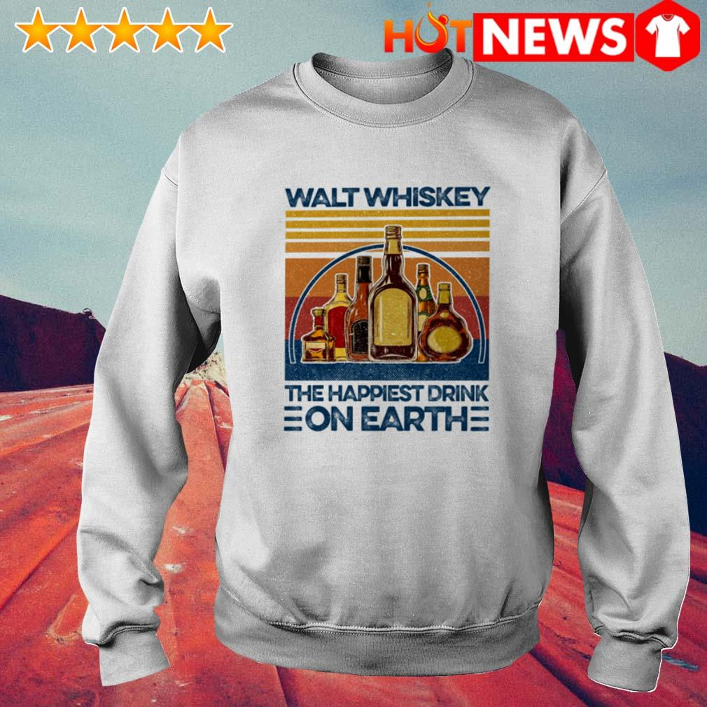 Vintage the happiest drink on earth Walt whiskey Sweater