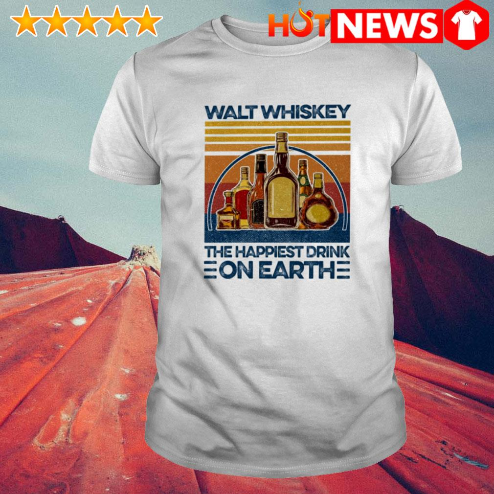 Vintage the happiest drink on earth Walt whiskey shirt