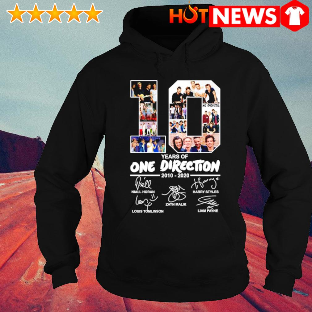 10 years of One Direction 2010 2020 signature s hoodie