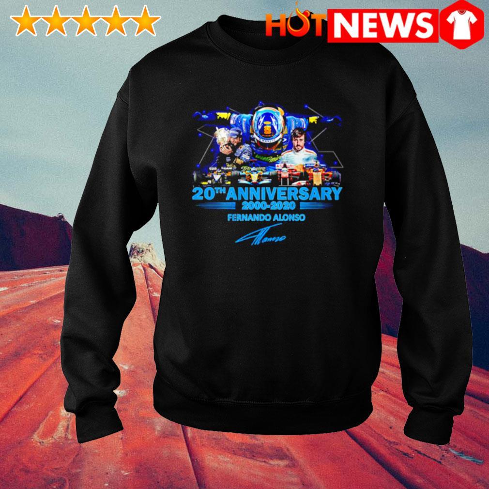 20th Anniversary 2000 2020 Fernando Alonso signature s sweater