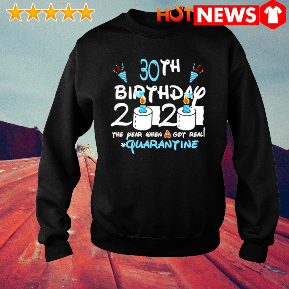 30th Birthday 2020 the year when shit got real quarantine s sweater