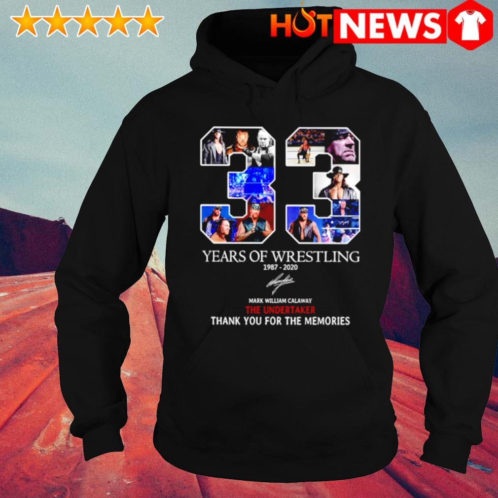 33 years of Wrestling 1987 2020 signature s hoodie