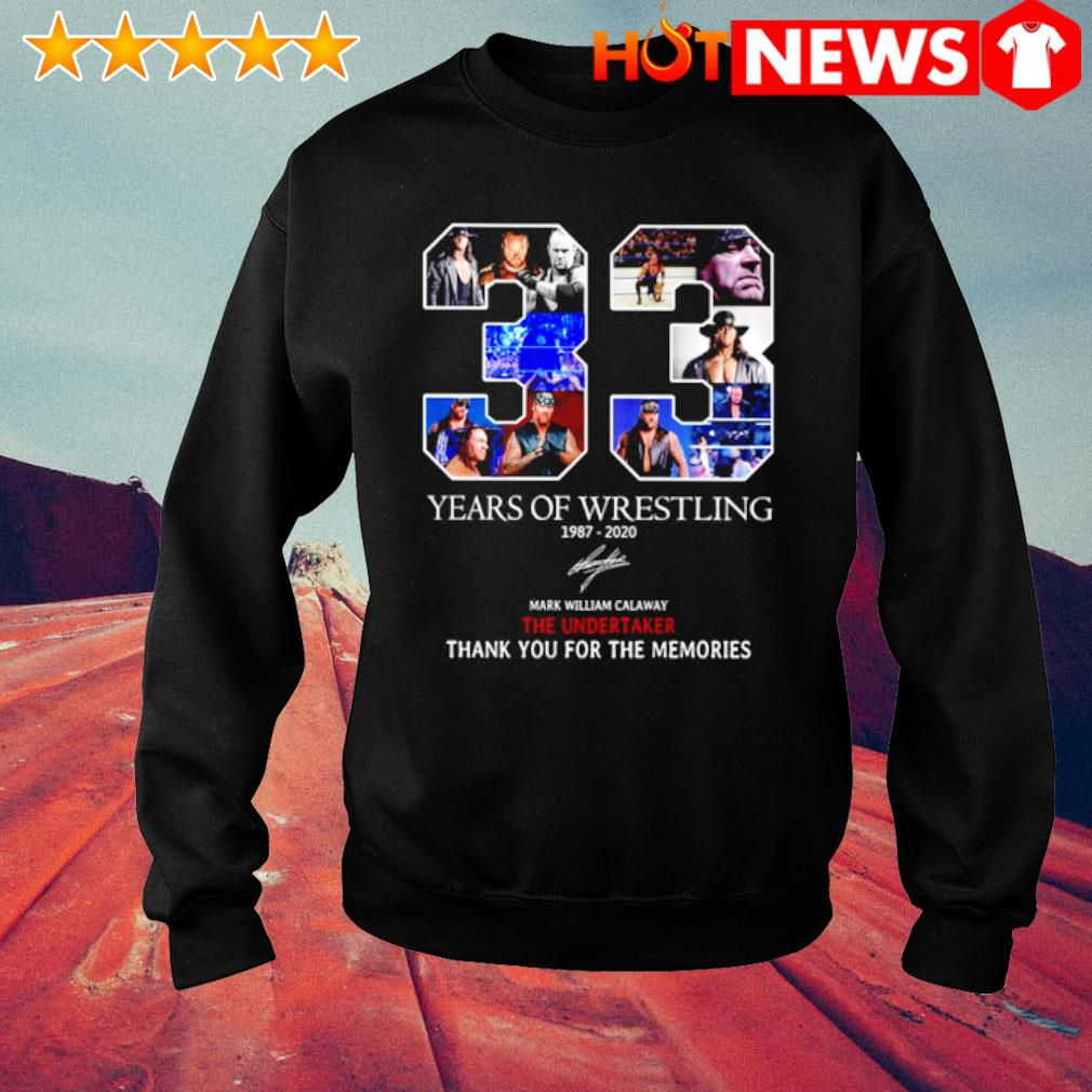 33 years of Wrestling 1987 2020 signature s sweater