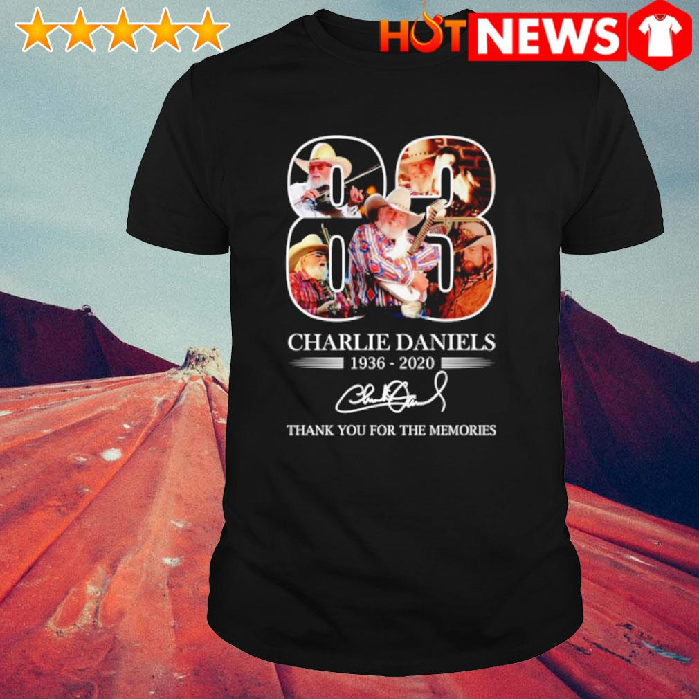 83 years of Charlie Daniels 1936 2020 signature shirt