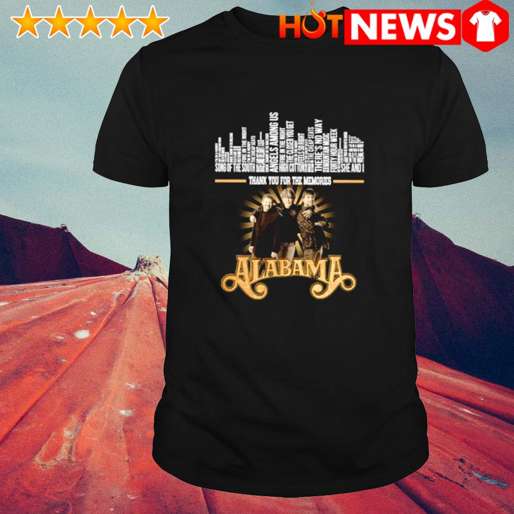 Alabama Song of the south thank you for the memories shirt