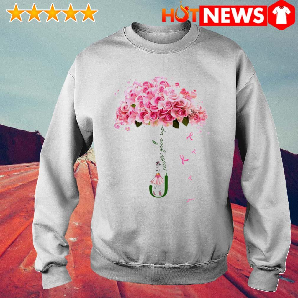 Rose girl Never give up s 6 HNT Sweat White