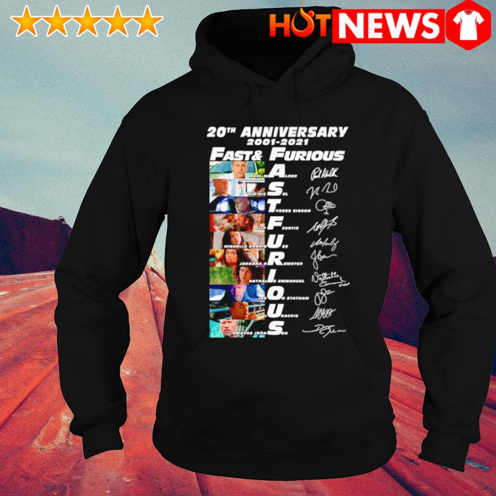 20th Anniversary 2001 2021 Fast and Furious signatures s hoodie