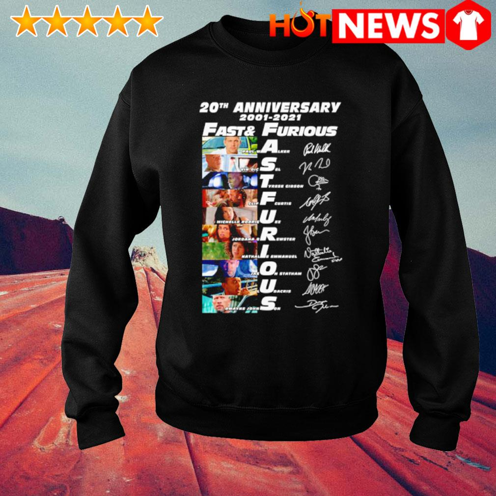 20th Anniversary 2001 2021 Fast and Furious signatures s sweater
