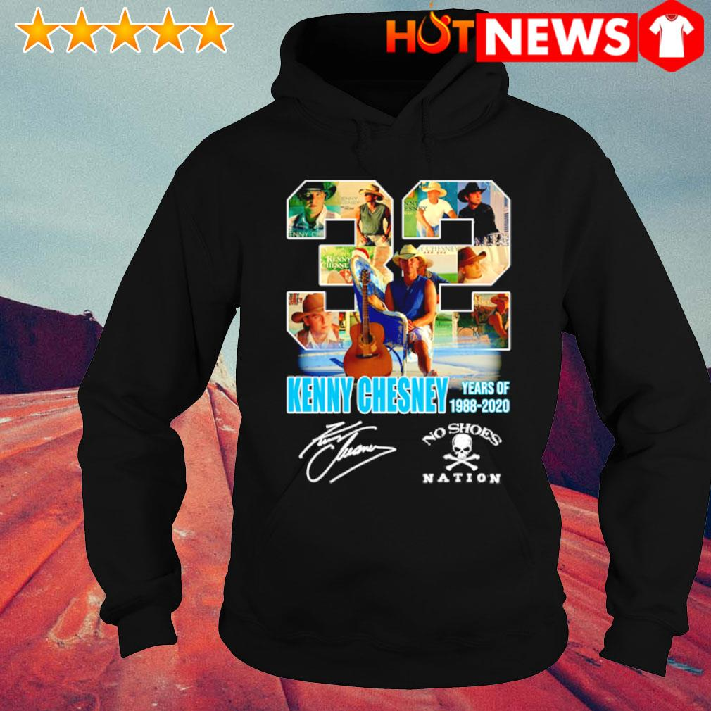 32 Years of Kenny Chesney 1988 2020 signature s hoodie