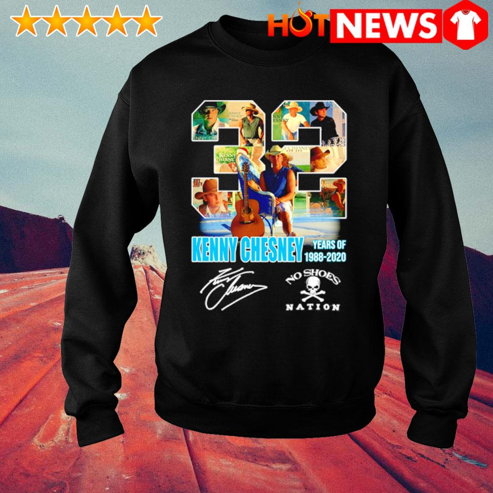32 Years of Kenny Chesney 1988 2020 signature s sweater