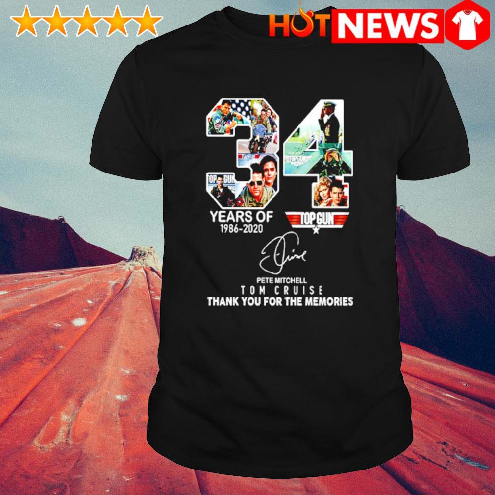 34 years of Top Gun 1986 2020 Tom Cruise shirt