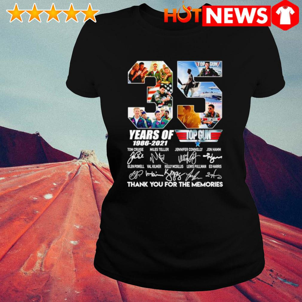 35 years of Top Gun 1986 2021 thank you for the memories s ladies-tee