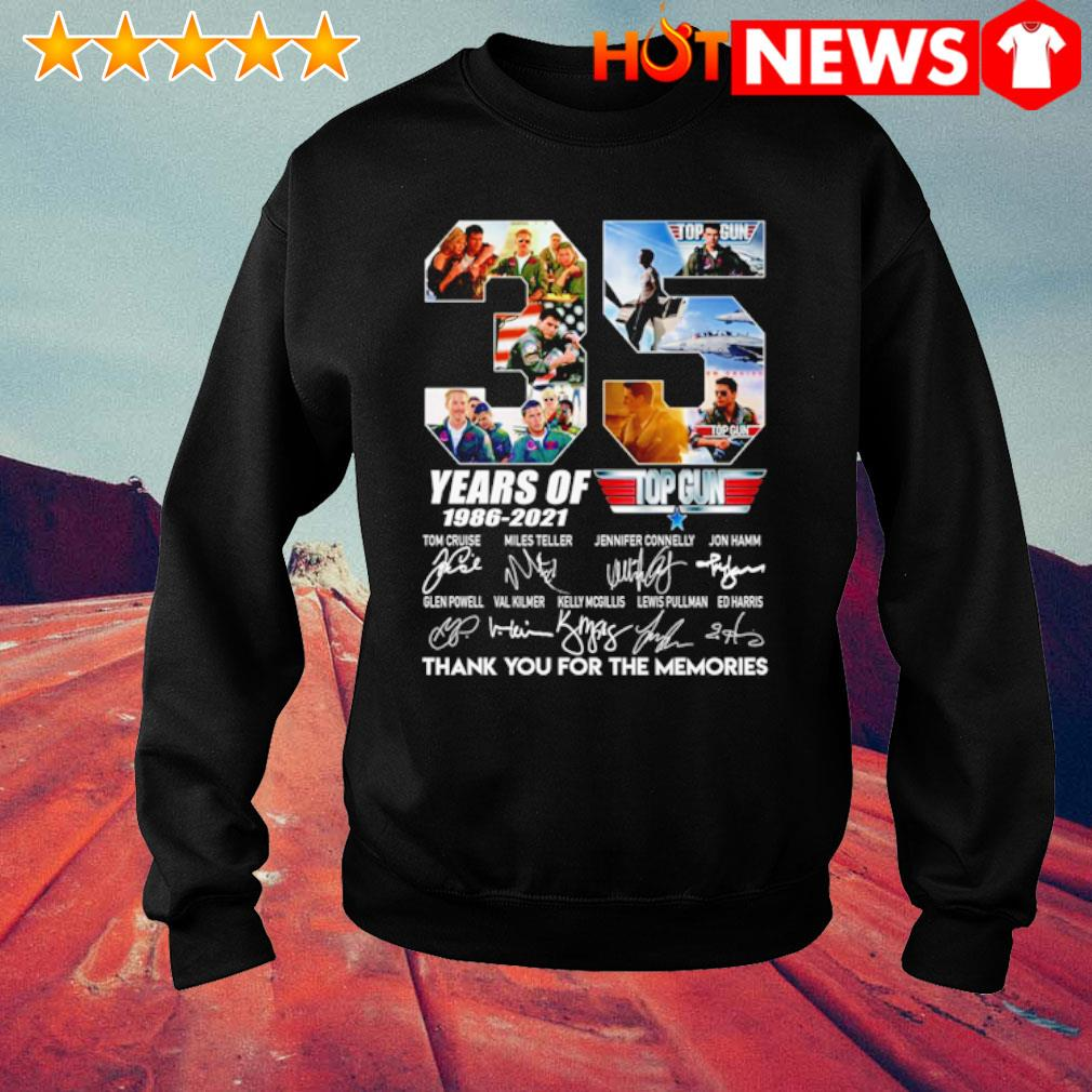 35 years of Top Gun 1986 2021 thank you for the memories s sweater