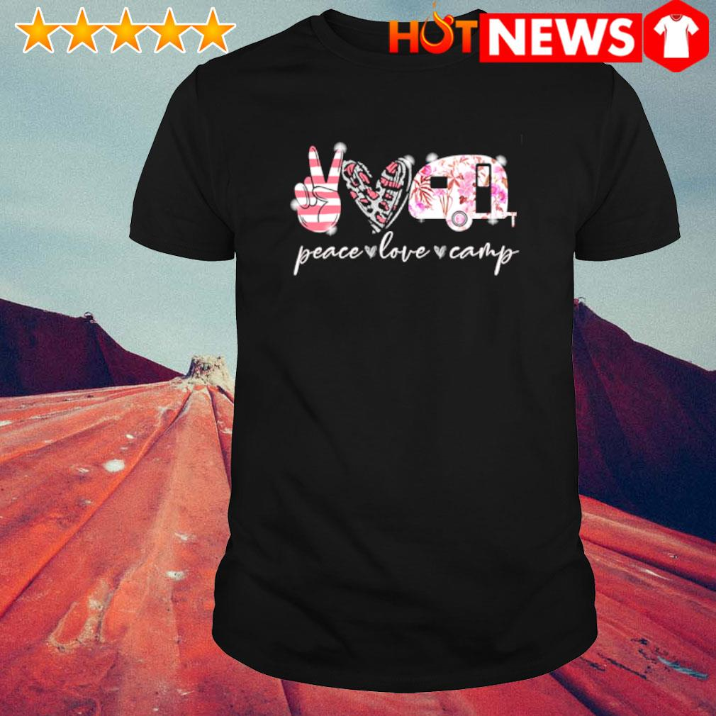 Peace love camp shirt
