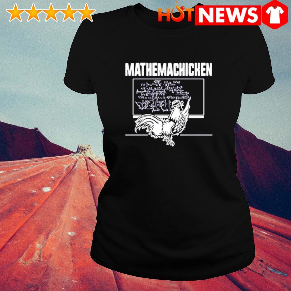 Teacher math chicken mathemachicken s ladies-tee