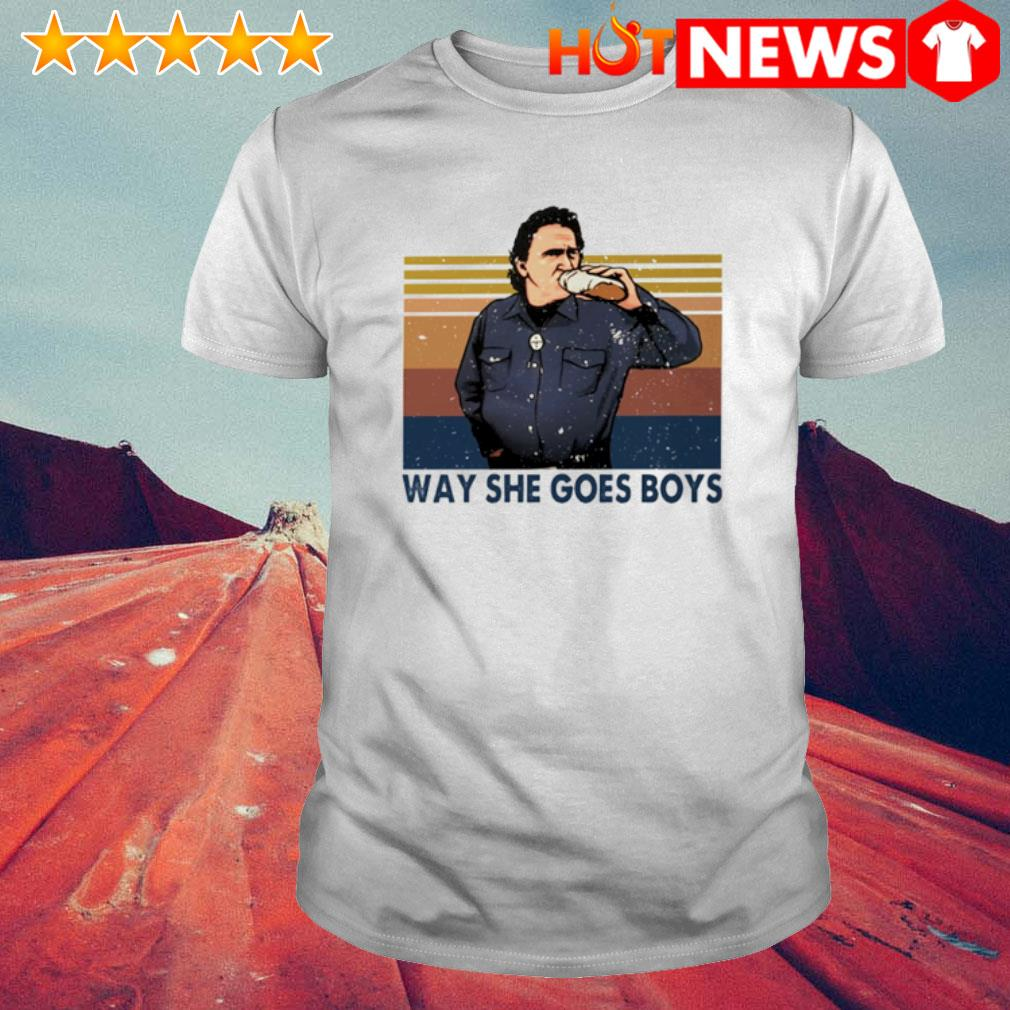 Way She Goes Boys Funny Comedy TV Series Vintage Men/'s Short Sleeve T-Shirt
