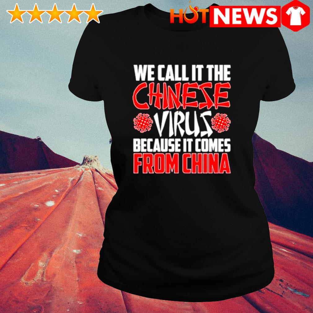 We call it the Chinese virus because it comes from China s ladies-tee