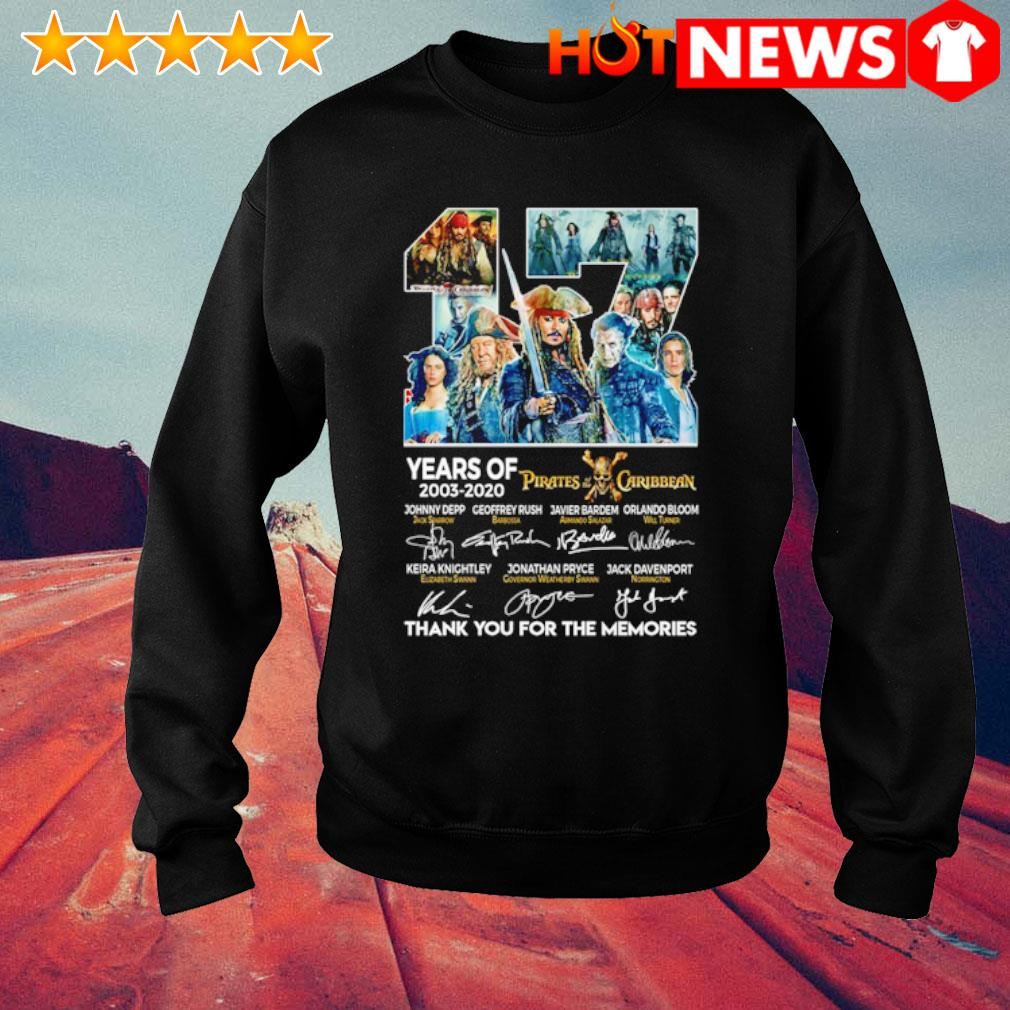 17 years of Pirates Caribbean 2003 2020 thank you for the memories s sweater