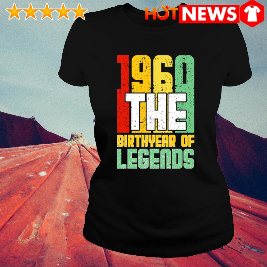 1960 the birth year of legends vintage s ladies-tee