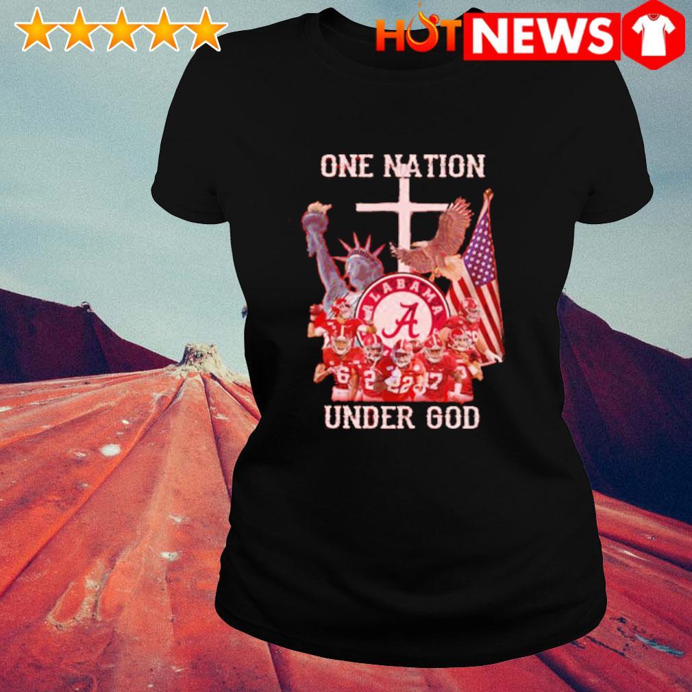 Alabama Crimson Tide one nation under God s ladies-tee