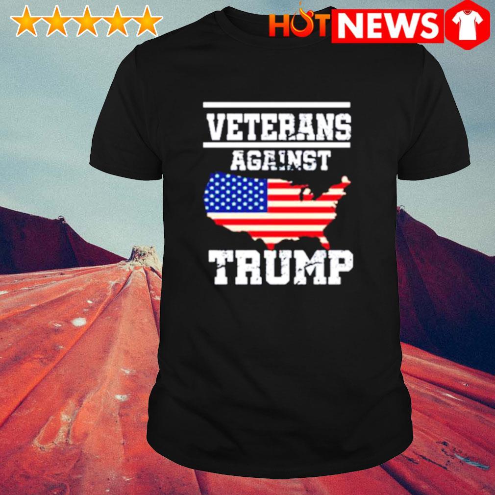 American flag veterans against Trump shirt