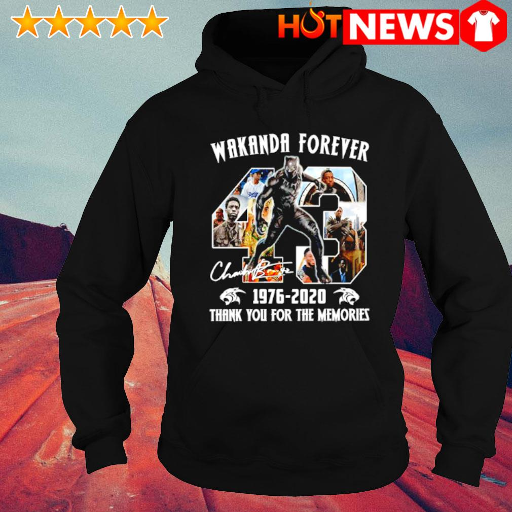 Black Panther wakanda forever 1976 2020 thank you for the memories s hoodie