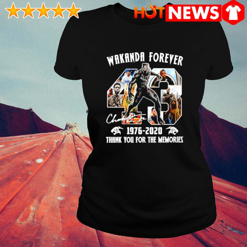 Black Panther wakanda forever 1976 2020 thank you for the memories s ladies-tee
