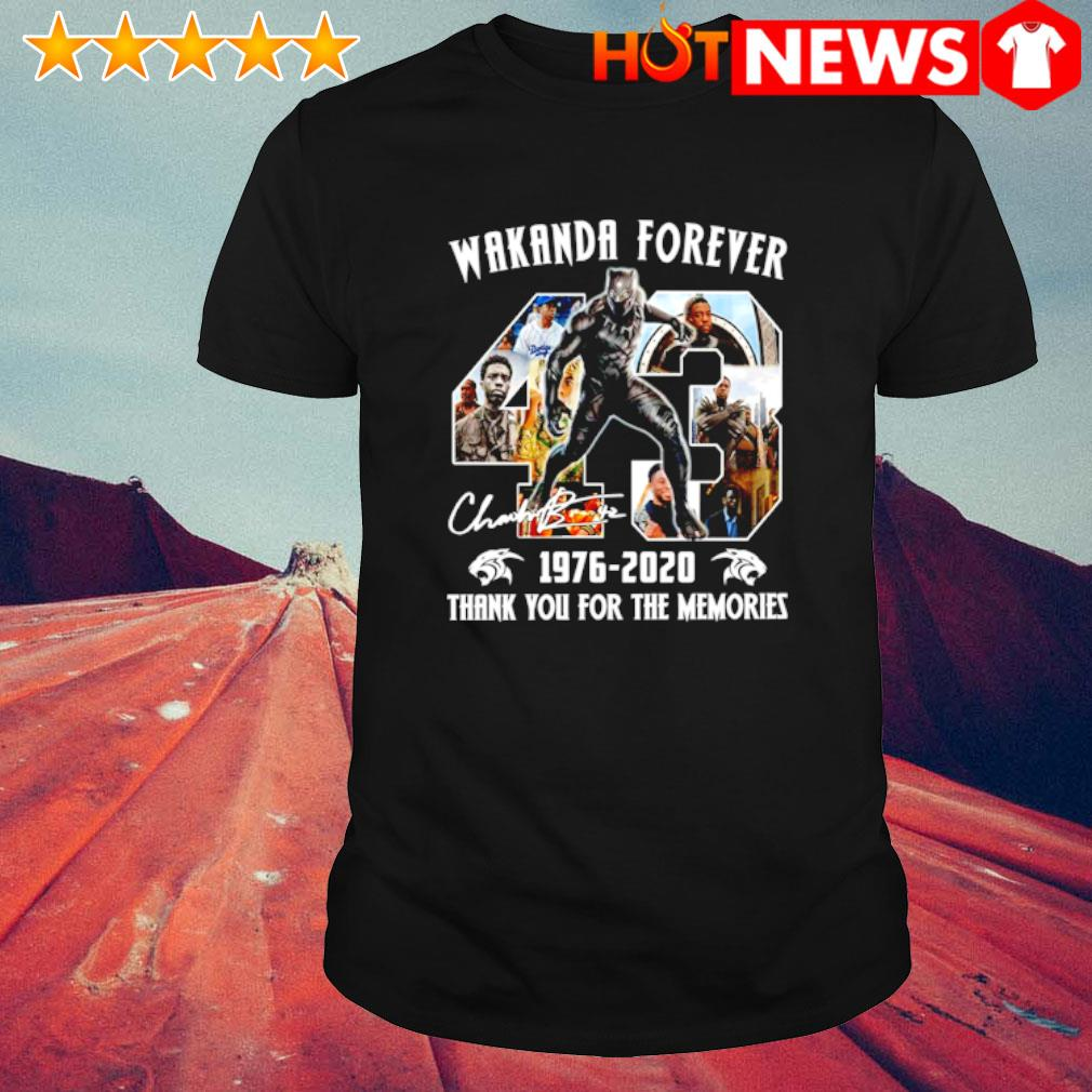 Black Panther wakanda forever 1976 2020 thank you for the memories shirt