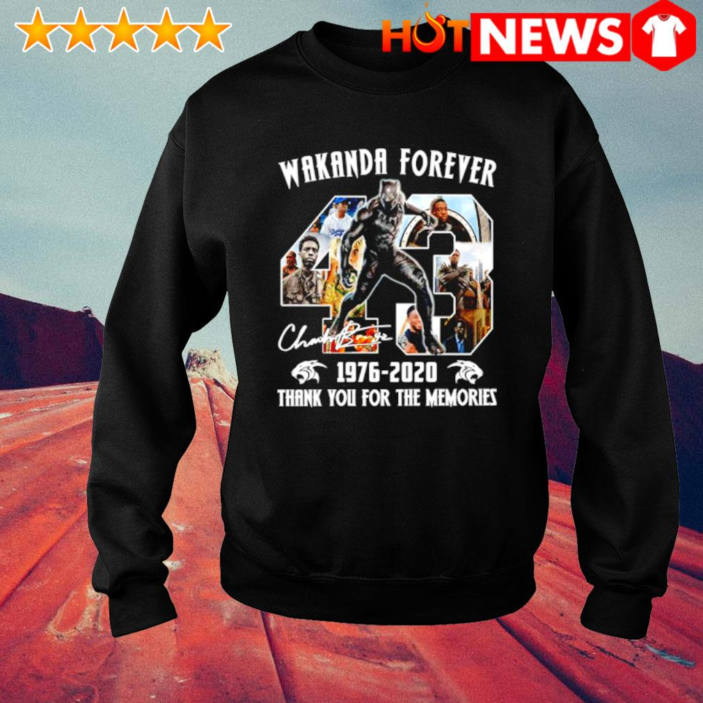 Black Panther wakanda forever 1976 2020 thank you for the memories s sweater