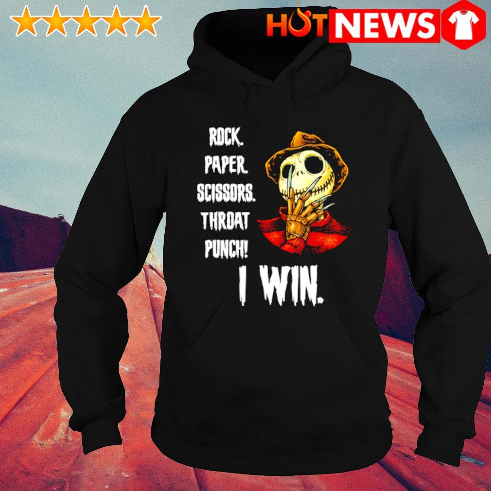 Freddy Krueger Jack rock paper scissors throat punch I win s hoodie