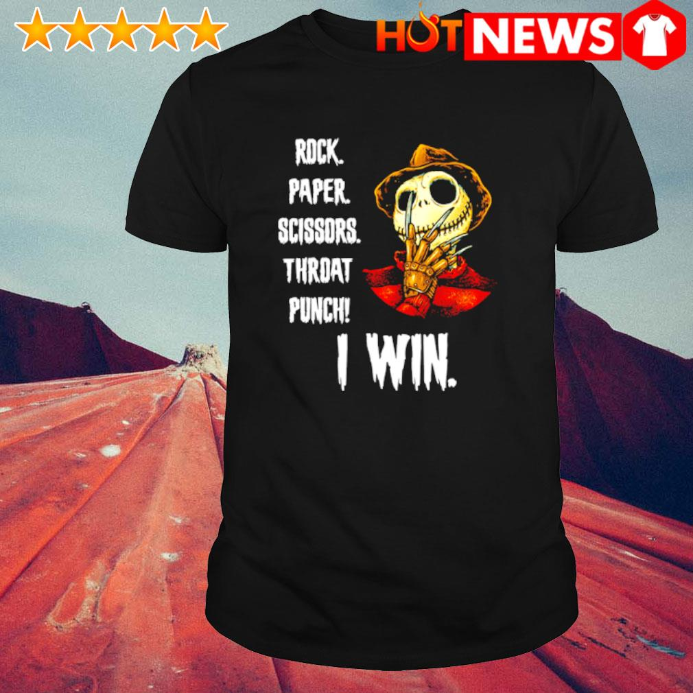 Freddy Krueger Jack rock paper scissors throat punch I win shirt