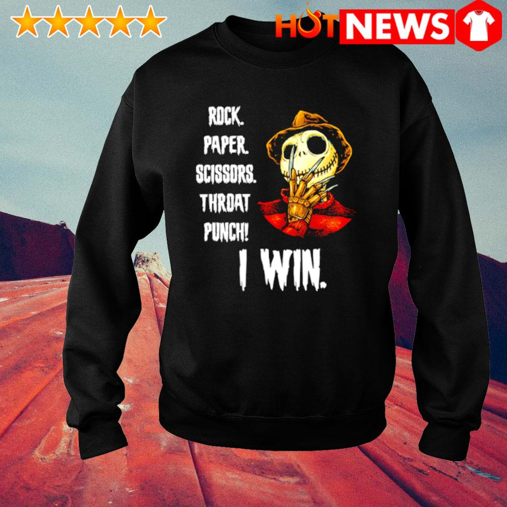 Freddy Krueger Jack rock paper scissors throat punch I win s sweater