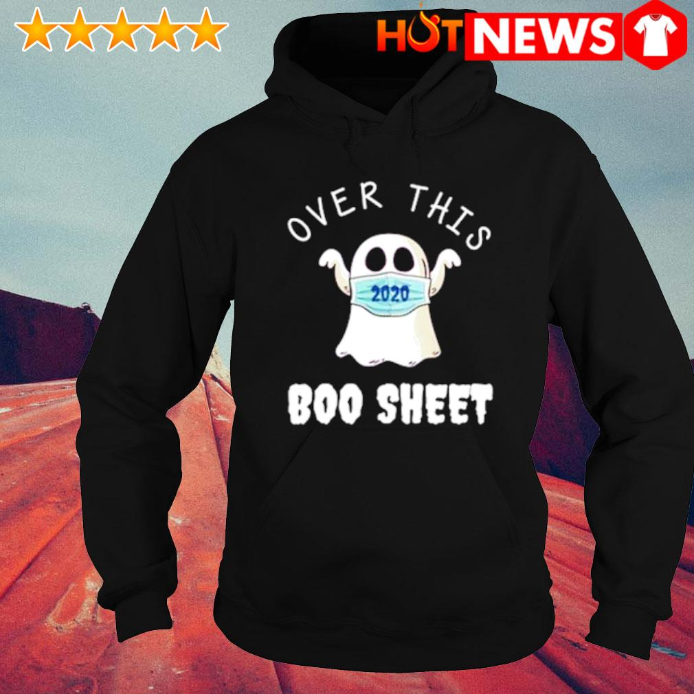 Ghost face mask over this boo sheet s hoodie