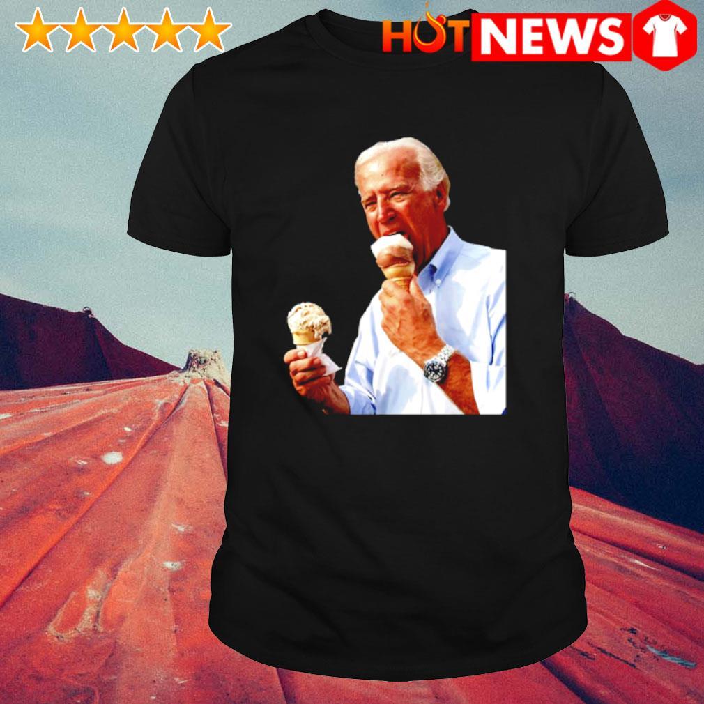 Joe Biden eating ice cream 2020 shirt