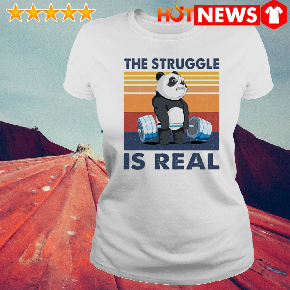 Panda the struggle is real vintage s 6 HNT Ladie White