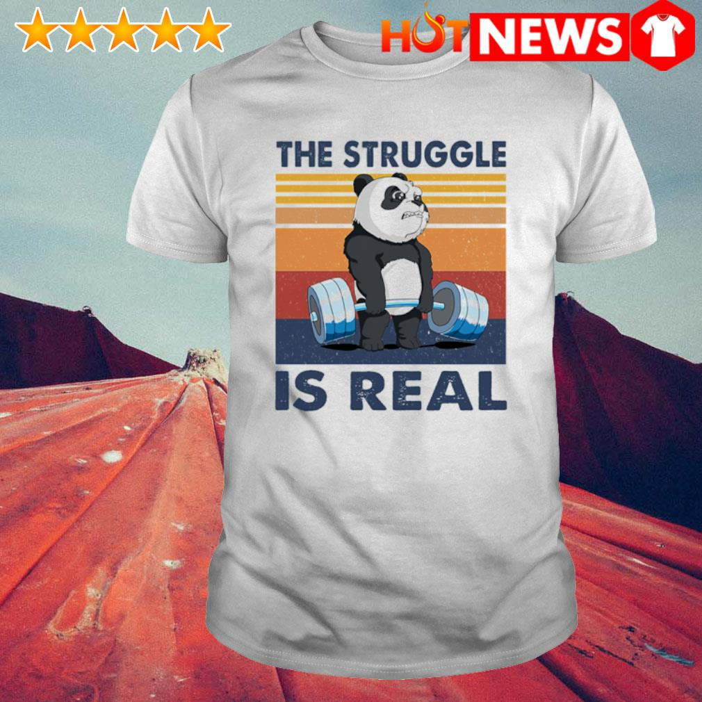 Panda the struggle is real vintage shirt