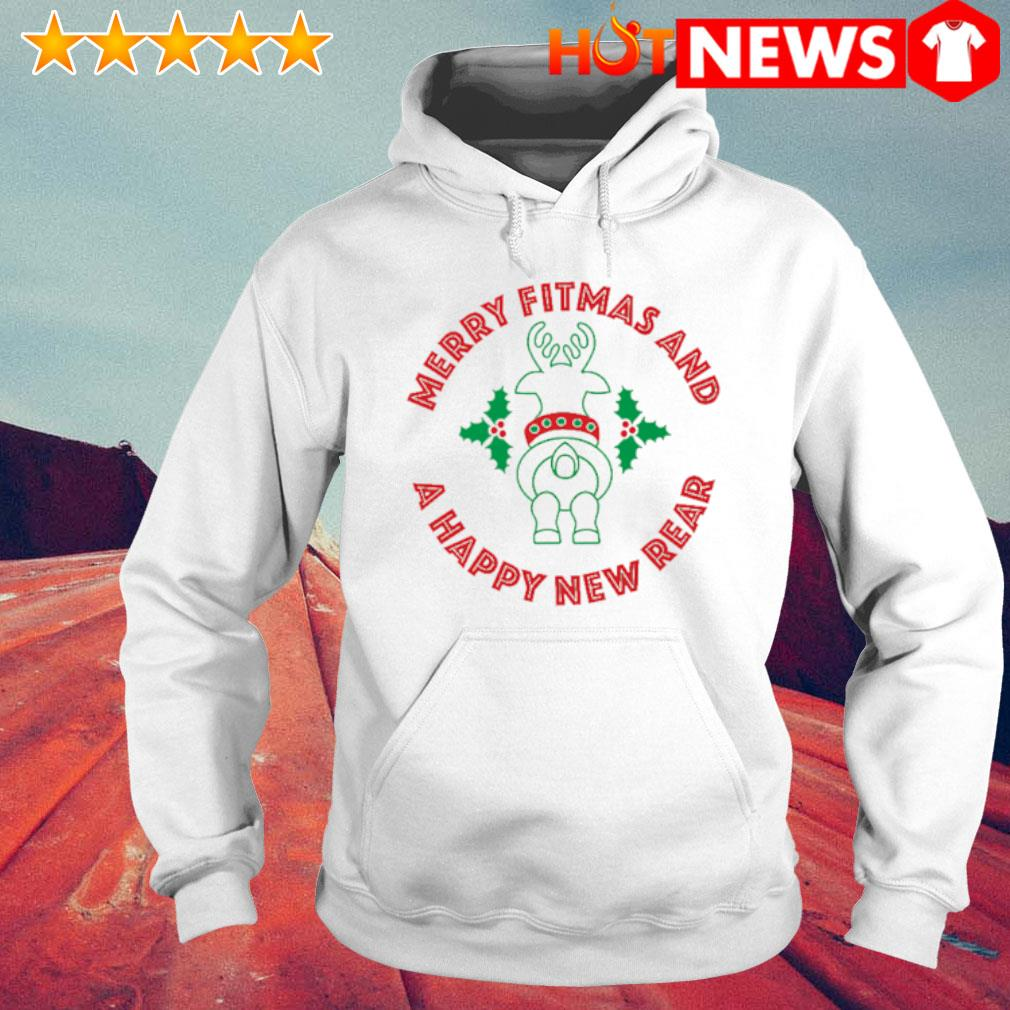 Rangifer Tarandus merry Fitmas and a Happy New Rear s 6 HNT Hoodie White