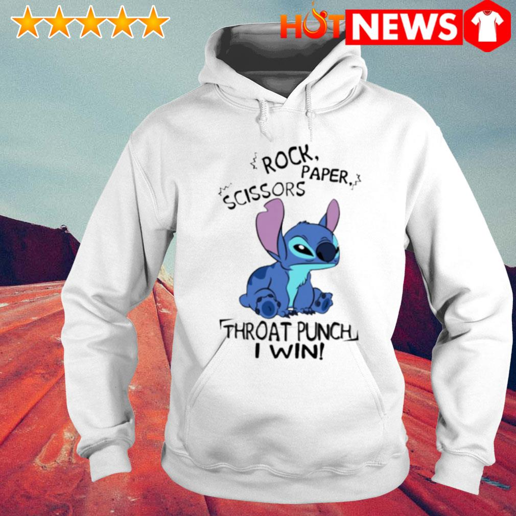 Stitch rock paper scissors throat punch I win s 6 HNT Hoodie White