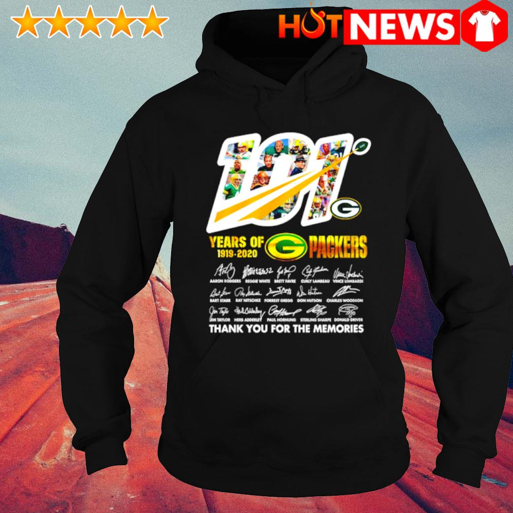 101 years of 1919 2020 Packers thank you for the memories s hoodie