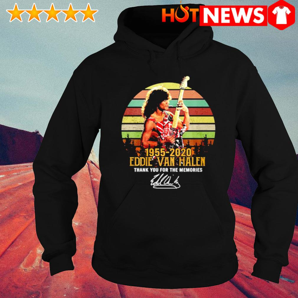 1955 2020 Eddie Van Halen thank you for the memories signature vintage s hoodie