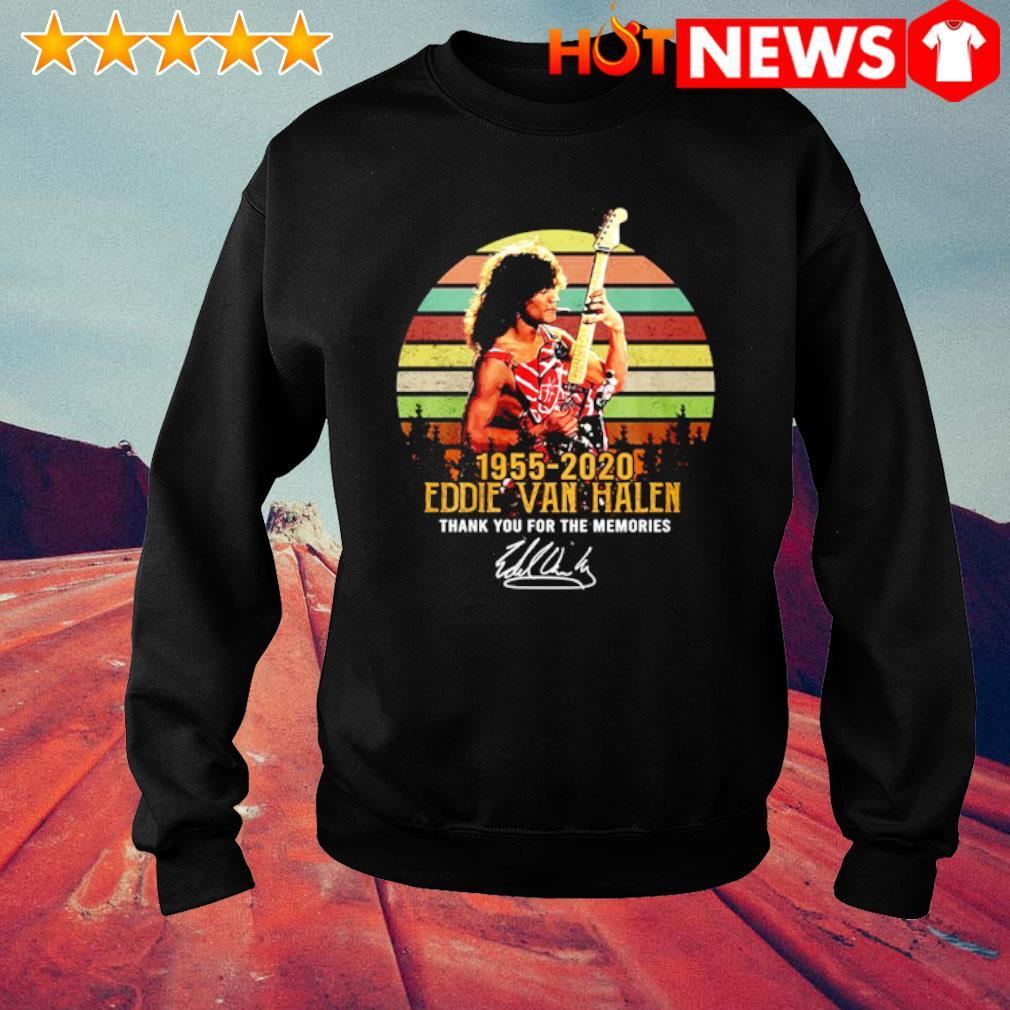 1955 2020 Eddie Van Halen thank you for the memories signature vintage s sweater