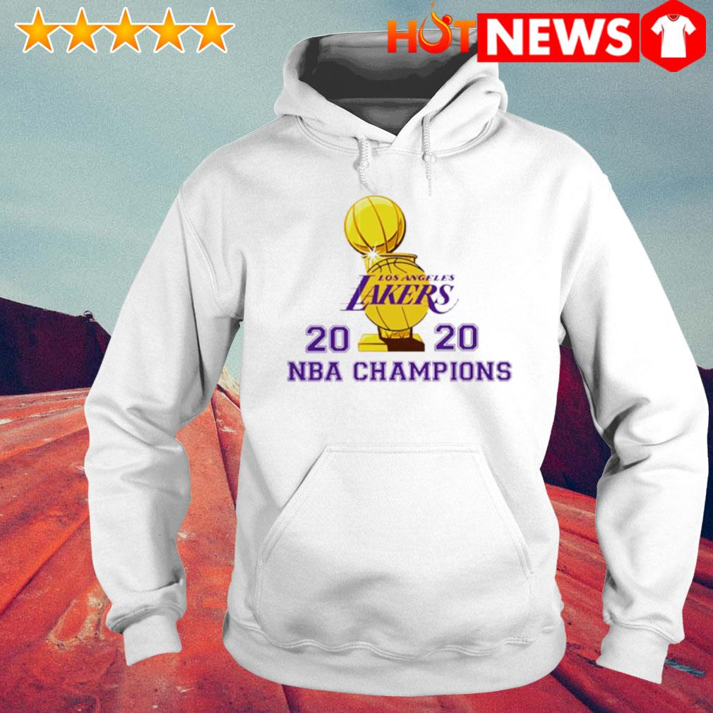 Los Angeles Lakers 2020 NBA champions s 6 HNT Hoodie White